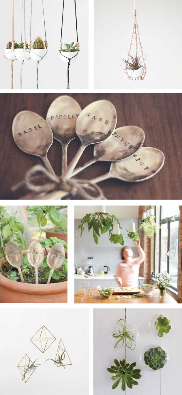 Collectic Vintage - Garden Hanging Planter Herb Gifts